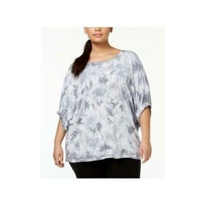 Calvin Klein Plus Size Relaxed Tie-Dyed top 95E